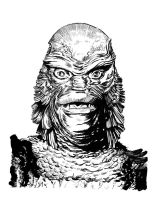 The creature from the black lagoon color by deevelliott on for Creature from the black lagoon coloring pages