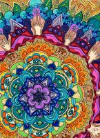 Microcosm Mandala by PaintMyWorldRainbow
