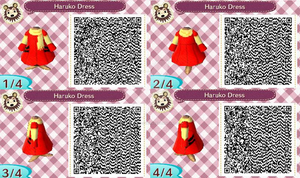 Haruko QR Animal Crossing Design by Decapitated-Kittens