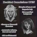 DnD-WoW Headshot Commissions OPEN by SpookyBjorn