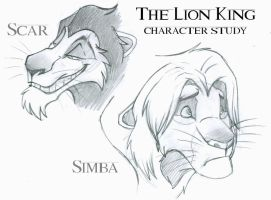 Lion King character sketches by MintyMaguire