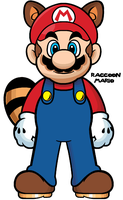 Raccoon Mario by Grimklok