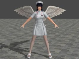 DOA5U Nyotengu Nurse costume (Updated) by zareef