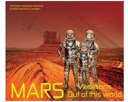 MARS Travel Posters Number One by tolemach