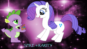 Rarity and Spike by Fluttershy626