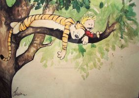 Calvin and Hobbes by KeepClimbing