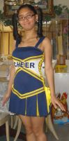 Me in my cheerleader costume with glasses by Magic-Kristina-KW