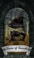 Skyrim Tarot - Seven of Swords by Whisper292