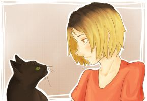kenma.and.the.cat by NinthVerrine