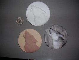 Resin-Wolf Medallion Painted by Blitzava