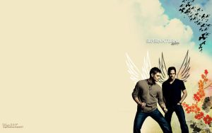 Supernatural Dorks Wallpaper by virgothedreamer