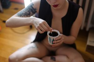 Coffee with sugar but no panties by Who-Is-Chill