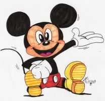 Mickey Mouse 2014 by spongefox