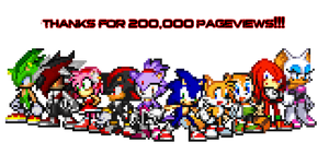 200,000 Pageviews special - Sonic Team! by KingAsylus91