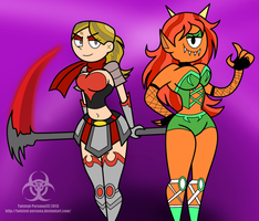 Ultra Heloise and Ultra Saffi by Twisted-Persona by TetraKnight
