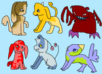 5 Point Adoptables OPEN (4 LEFT) by bananas1607