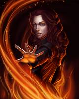 Rhine the Fire mage by Diablera