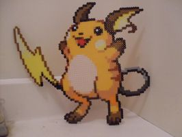 Pokemon: Perler Bead Raichu by heatbish