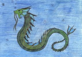 Sea Serpent by InsanityBunneh