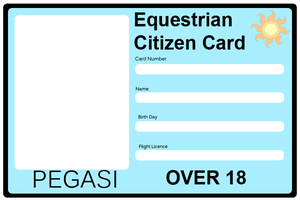 Equestrian Citizen Card - Pegasi by Maxis122