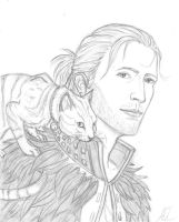 Anders and his cat by AnastasiyaChubar