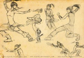 Korra Anatomy Practice Sketches by aLyTeh