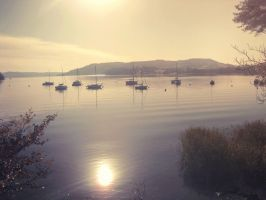 boats on lake windermere by LightningChaser