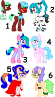Female MLP Adopts. ::CLOSED:: by Sonicgirlify