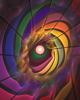 'Light Flame Abstract 208' by SBricker