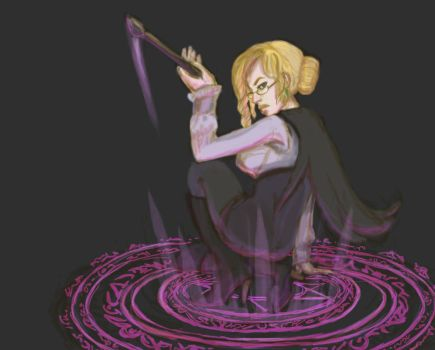 Glynda's Punishing Glare: RWBY Art Challenge day 7 by illuminantur