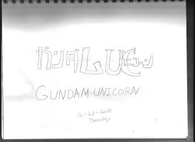 Gundam Unicorn Title by Bluesplendont