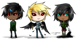 Demon Triplets by silverei