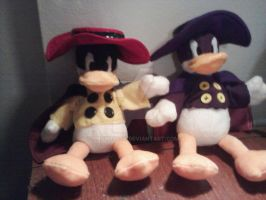 Darkwing Duck and Negaduck by snowtigra