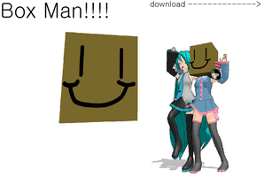 mmd box man +download by FBandCC