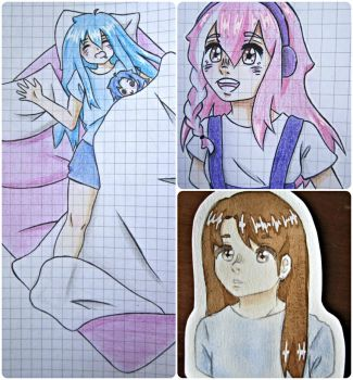 Little drawings again ~ by mailinyan