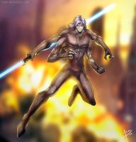 Jedi Knight Senjac  Commission by Namh