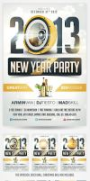 2013 New Years Eve Party Flyer by saltshaker911