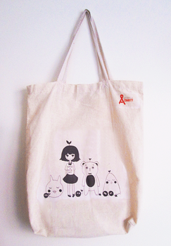 plant girl and friends bag by eggflour