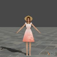 Dissidia Aerith Summer Dress Mod by DatKofGuy