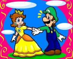 Luigi and Daisy by Luigi-Daisy-Club