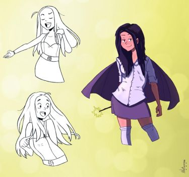 Little Wizard Girl! And sketches |Day 15 by Netierrez