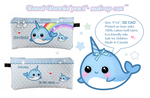 Kawaii narwhal pencil case ^^ by tho-be