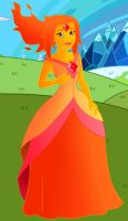 Disneyfied Adventure Time: Flame Princess by Willemijn1991