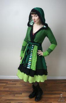 Absinthe The Green Fairy fairytale patchwork sweat by smarmy-clothes