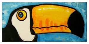 Little Paintings - toucan by Duffzilla