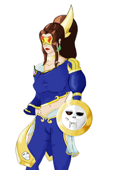 Blind goddess prototype by Half-of-a-mask