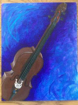 My cello, painted by cherello
