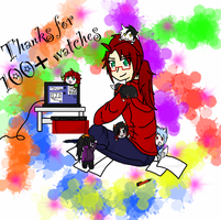 Thanks for the 100+ Watchers by lunarExorcist