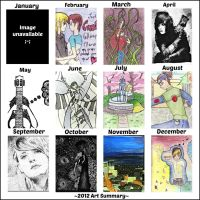 2012 Art Summary by Musical-Ink