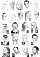 100 faces - first 22 by StefanieOdendahl